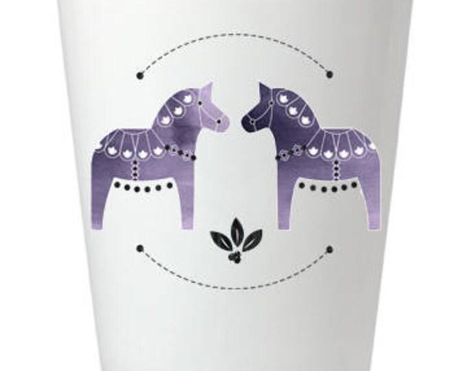 Purple Dala Horse Shot Glass