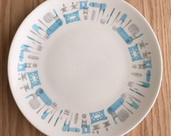 Blue Heaven dinner plate by Royal China