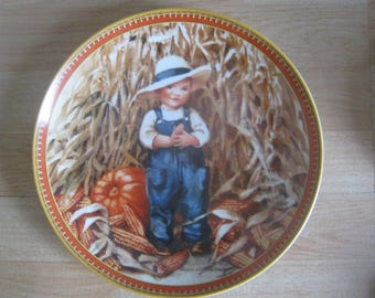 """Vintage Knowles """"Thanksgiving"""" Limited Edition Plate"""