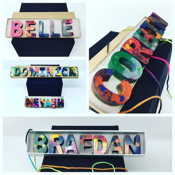 Name crayon gift set, Recycled Alphabet Crayon Set, Personalized Name Crayons, Letter Crayons, Recycled Crayon gifts, Alphabet Crayons