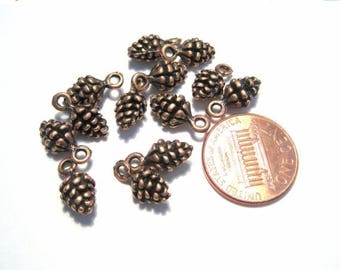 50% OFF Clearance Sale-- Antique Copper Small Pine Cone Charms Pendant 3D Charms Pendant