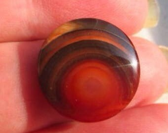Fantastic Natural Color Indonesian Picture Agate Sunrise/Sunset Pattern Carnelian Agate 12ct 17x17x5mm