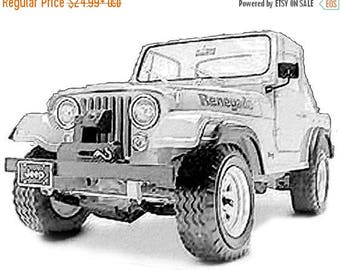 40% OFF Sale Jeep Drawing T-Shirt