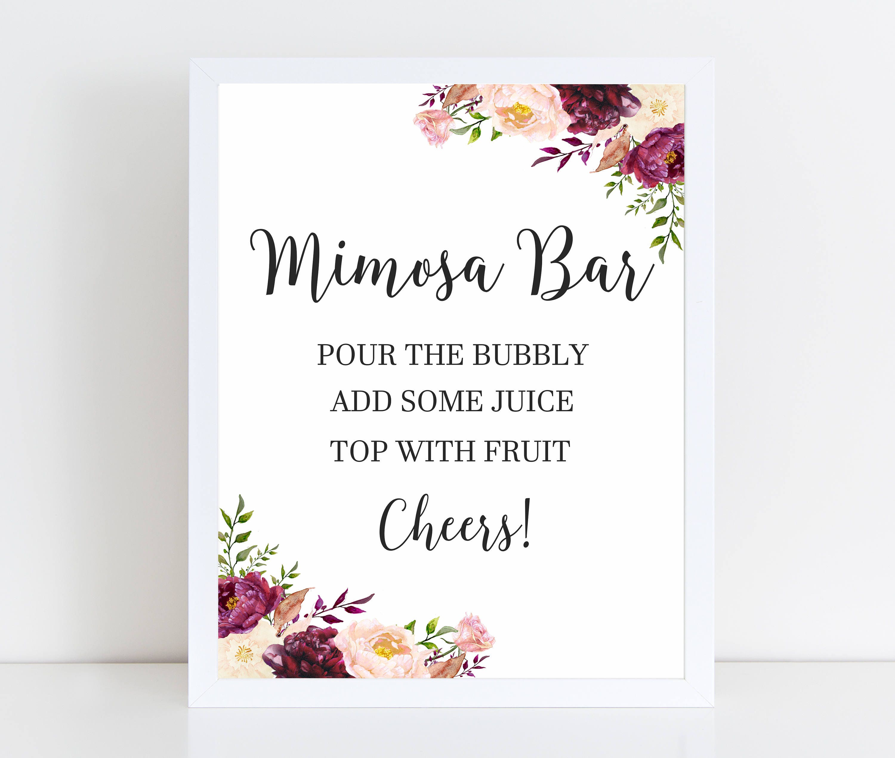 This is a picture of Trust Mimosa Bar Sign Printable