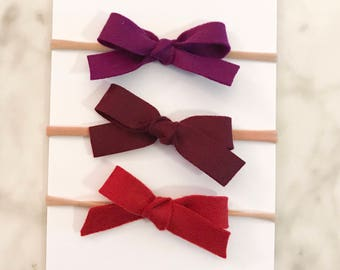 NATAILE- 3/4 inch Hand Tied Bow