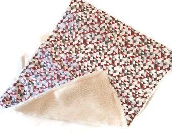 SALE Geometric Triangles Fleece Blanket