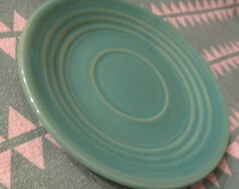 """Bauer Pottery Jade Green """"Ringware"""" Cup Saucer; Bauer, Bauer Pottery, Bauer Ringware, Early California Pottery"""