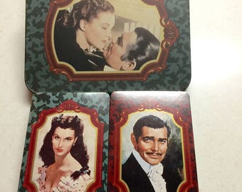 Vintage Playing Cards 2 Decks Gone with the Wind Scarlett O'Hara Rhett Butler