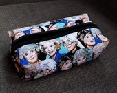 Golden Girls illustrated make-up bag/pencil case. Handmade and exclusive to ThatAgnes!