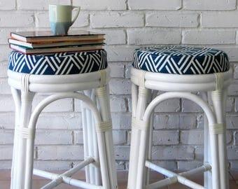 bentwood rattan bar stools
