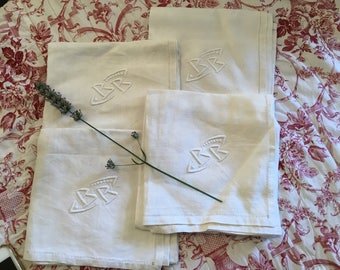French linen napkins BB