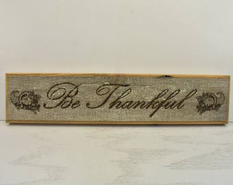 Be Thankful Barnwood Door Topper