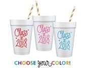 Graduation Foam Cups   Choose YOUR Color!