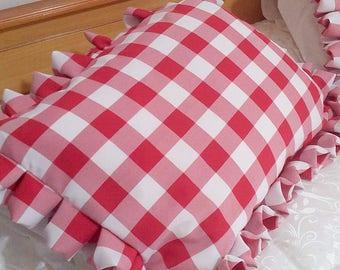 Buffalo Check Sham Pillow - Buffalo Check Pillow Cover - Decorative Cushion Cover - Checked Pillow Cover - Ruffled Sham Pillow - Set of 2