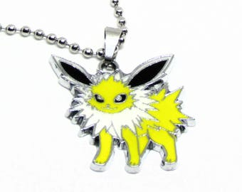 """Jolteon Necklace 18"""" Stainless Steel Ball Chain"""