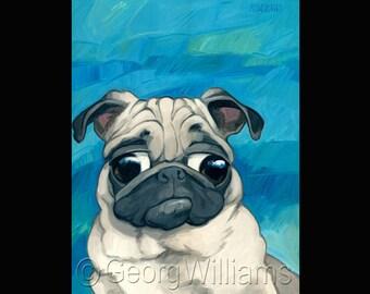 "Pet Portrait Giclee Print ""Mugsy"""