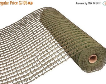 "SALE 21""x10yd windowpane mesh, Khaki green mesh, khaki green windowpane mesh, khaki green deco mesh, windowpane mesh, mesh, poly deco mesh,"