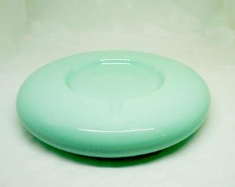 "Aqua; Tourquoise; Ceramic Dish; Ashtray; Approx. 8.25""W x 1.25""H; William Alexander Collection; Canada !!!"