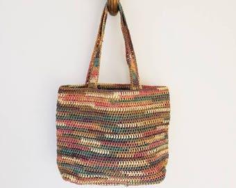 Vintage Raffia Summer Bag