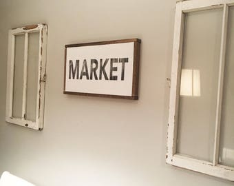 Market Sign - Distressed
