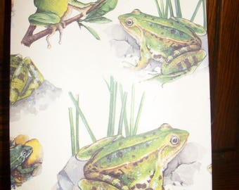 "Refillable notebook deco life ""frog""."