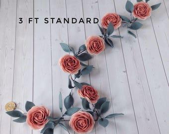 Ready to ship Felt Flower Garland