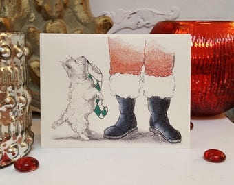 Boxed West Highland White Terrier Holiday Cards