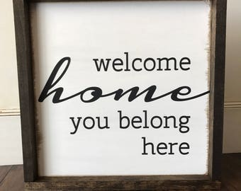 Farmhouse Style Welcome Sign