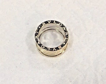 Estate Bvlgari 18k White Gold Wide Band
