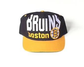 Boston bruins nhl hockey logo 7 competitor Snapback Snap back Strapback hat One Size Adult Unisex twill