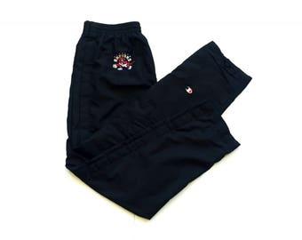90s Champion Toronto Raptors NBA basketball tearaway pants size large black