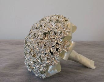 Stunning Silver Flower Bouquet.. Bridesmaid Bouquet