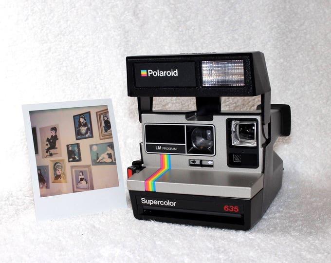 Original Factory Polaroid Silver Rainbow Supercolor 635