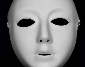 Blank Female Mask - White