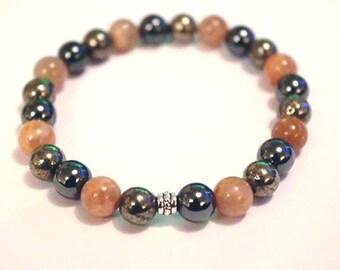 Crystal Healing Gemstone Bracelet Anti-Fatigue