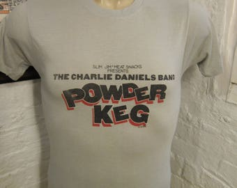 Size M- (39) ** 1987 Charlie Daniels Band Concert Shirt (Screen Stars) (Single Sided) **