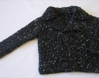 Cardigan jacket black perfecto style 6