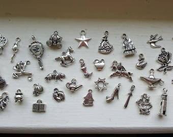 Fairy Tale Princess Charm Set 33 Piece Tibetan Style Silver