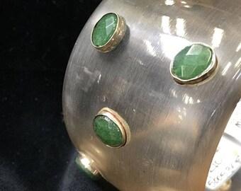 Bracelet ~ Vintage Multi Stones Emeralds 1970's