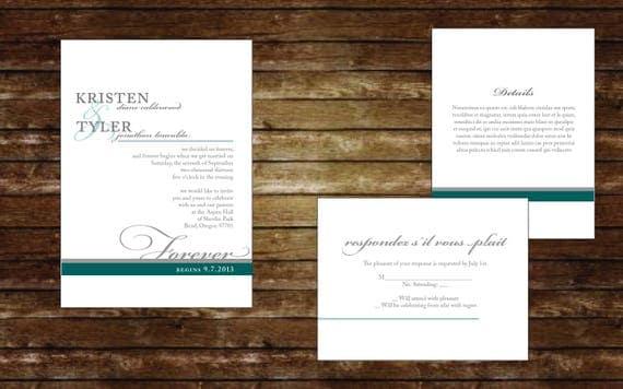 Forever Begins Printable Invitation Suite, Wedding Invitations, Digital Invitations, Custom Invitations