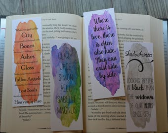 Shadowhunters Bookmarks inspired by The Mortal Instruments Series