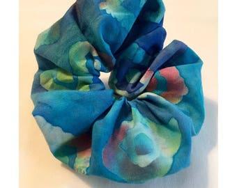 Blue Tie Dye Hair Elastic