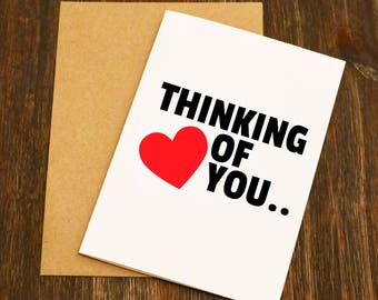 Thinking Of You.... Naked - Funny Valentines Card - Boyfriend - Husband - Wife - Girlfriend