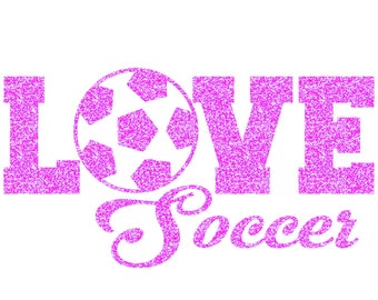 Love Soccer Iron On Decal