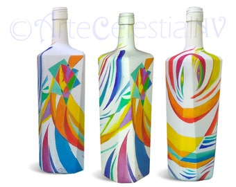 Abstract cubist bottle