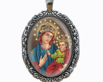 Our Lady of Consolation Mother Mary Medal Catholic Jewelry NEW