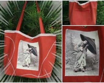 """Bag image transfer """"geisha"""""""