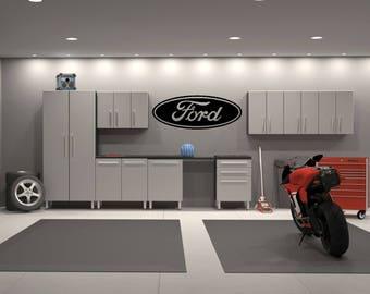 Ford Emblem Garage Interior Wall Decal Sticker