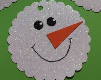 6 Snowmen Snowball Winter Gift Tags Cards