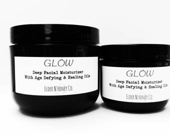 """Tallow Facial Cream - Deep Moisture - Get that """"Glow"""" Anti-aging, Tallow, Wrinkle, night or day cream, 100% Natural, Vitamin C, Grass-fed"""